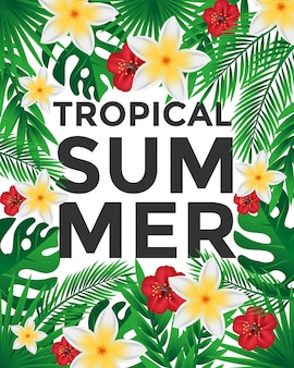 Affiche tropicale