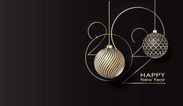 Affiche de typographie de bonne année bannière de bonne année avec des nombres