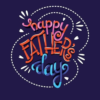 Affiche de typographie bonne fête des pères