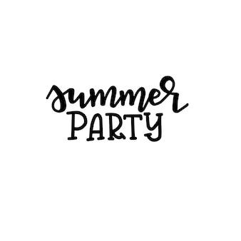 Affiche de typographie d'été. expression manuscrite conceptuelle t shirt design calligraphique en lettres à la main. inspirant