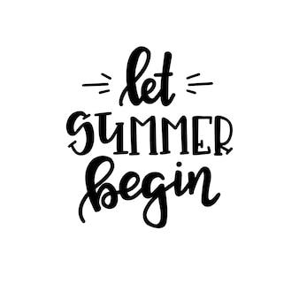 Affiche de typographie d'été. expression manuscrite conceptuelle t shirt design calligraphique en lettres à la main. vecteur d'inspiration