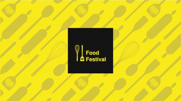 Affiche de typographie festival alimentaire