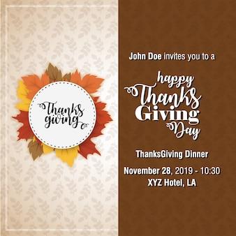 Affiche de typographie de thanksgiving.