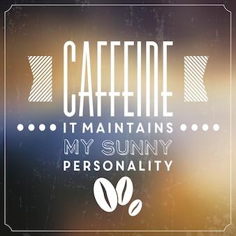 Affiche typographique de café
