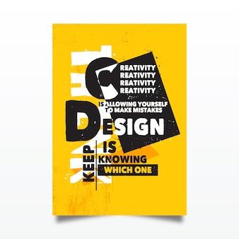 Affiche typographique de citations de conception célèbre