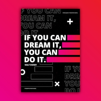 Affiche typographique de citations de motivation