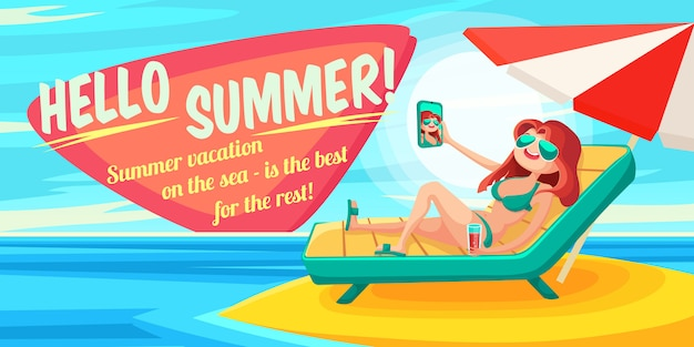 Affiche des vacances d'été.
