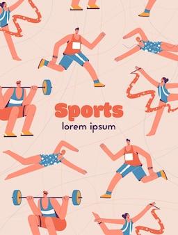 Affiche de vecteur du concept sportif.