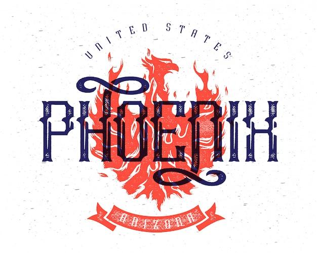 Affiche de vecteur de phoenix