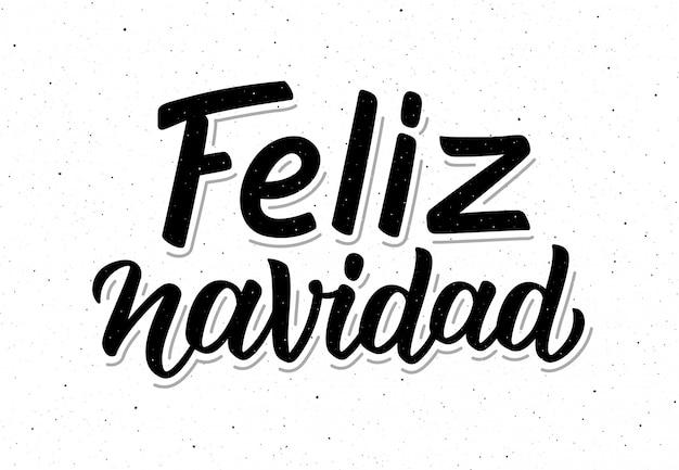 Affiche de vecteur typographique vintage feliz navidad