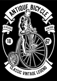 Affiche de vélo antique classique