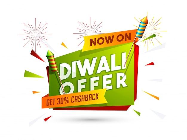 Affiche de vente, bannière, prospectus pour la vente et remise de diwali.