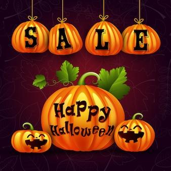 Affiche de vente de citrouille d'halloween
