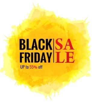 Affiche de vente de concept de vendredi noir pour splash