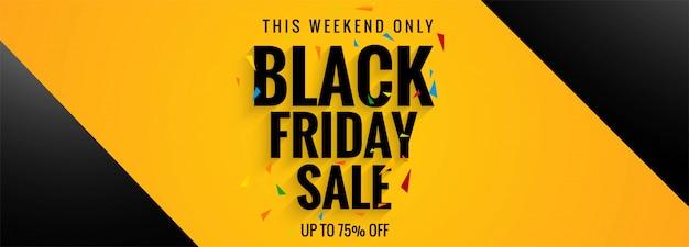 Affiche de vente du modèle de bannière vendredi noir