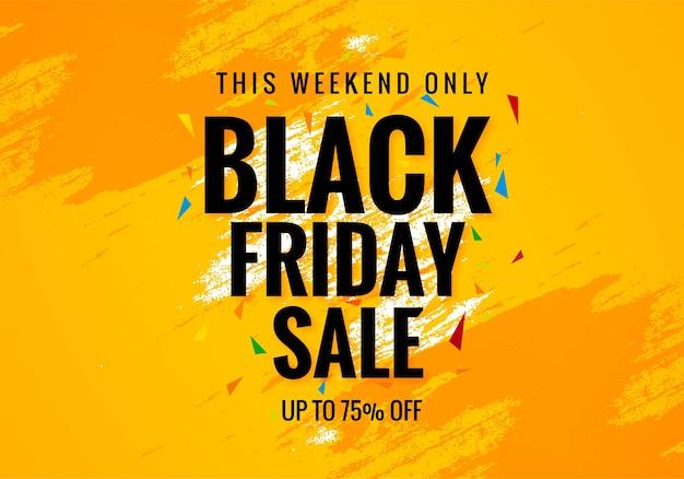 Affiche de vente du week-end du vendredi noir