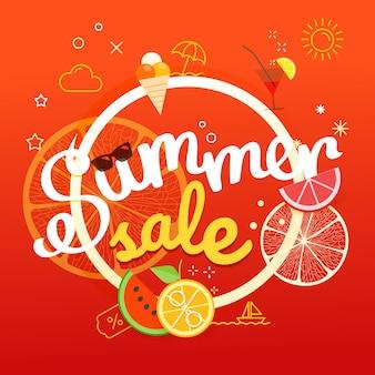 Affiche de vente d'été