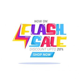 Affiche de vente flash, conception de bannière ou de flyer.