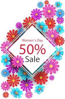 Affiche de vente de la journée de la femme