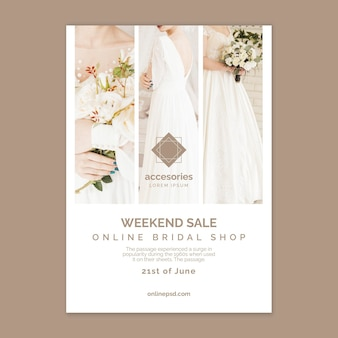 Affiche de vente en ligne de week-end