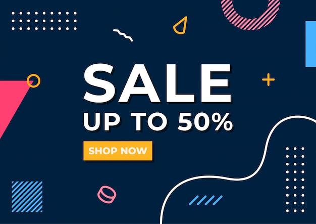 Affiche de vente minimaliste
