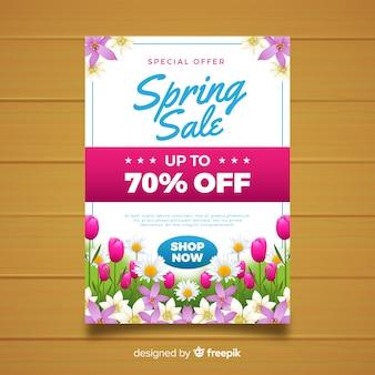 Affiche de vente printanière florale