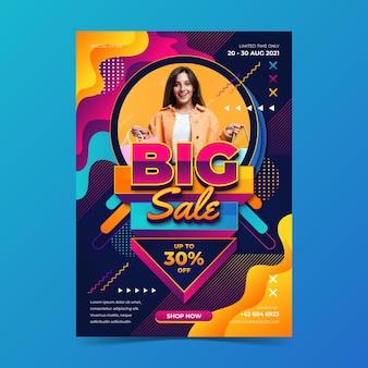 Affiche de vente réaliste avec photo