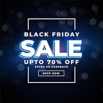 Affiche de vente de vendredi noir avec bannière de détails d'offre