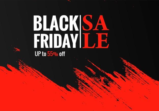 Affiche de vente vendredi noir sur un coup de pinceau dessiné à la main