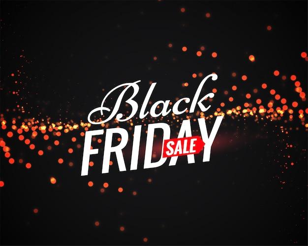 Affiche de vente de vendredi noir avec des étincelles légères
