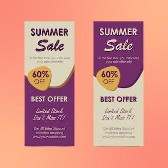 Affiche verticale d'offres d'été