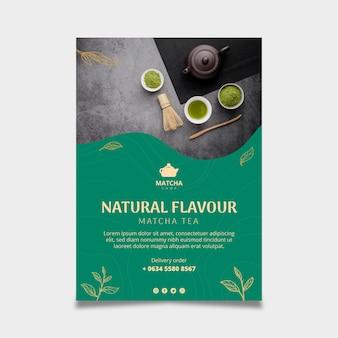 Affiche verticale pour le thé matcha