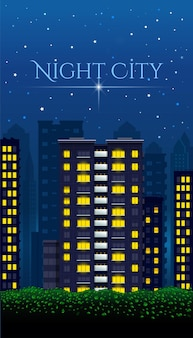 Affiche de la ville de nuit