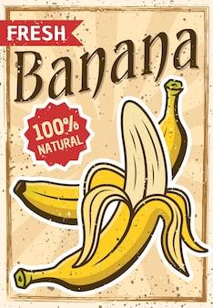Affiche vintage de banane