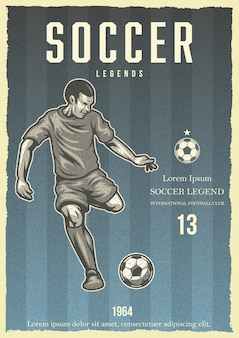 Affiche vintage de football