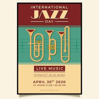 Affiche vintage de la journée internationale du jazz