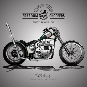 Affiche vintage de moto chopper
