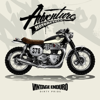 Affiche vintage motocross srambler