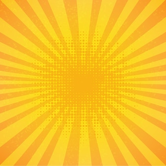 Affiche vintage sunburst
