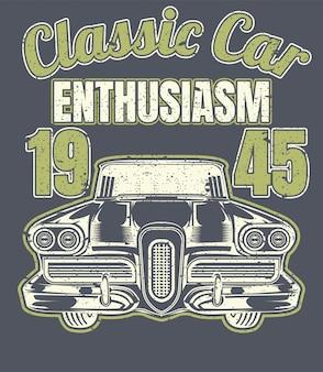 Affiche vintage de voiture classique