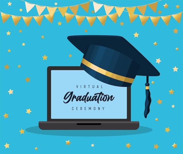 Affiche virtuelle de remise des diplômes