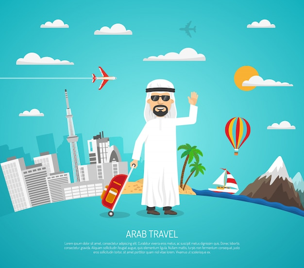 Affiche de voyage arabe