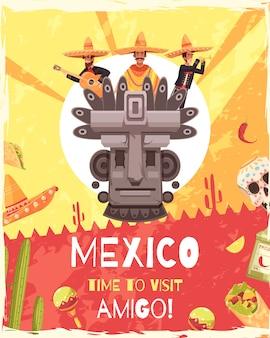 Affiche de voyage au mexique