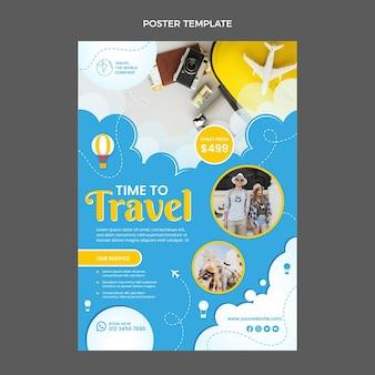 Affiche de voyage design plat