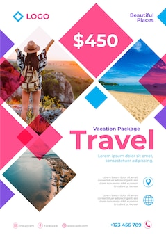 Affiche de voyage avec détails et photo
