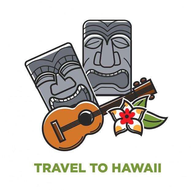Affiche voyage à hawaii