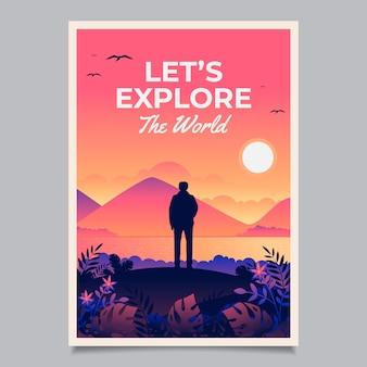 Affiche de voyage illustrée