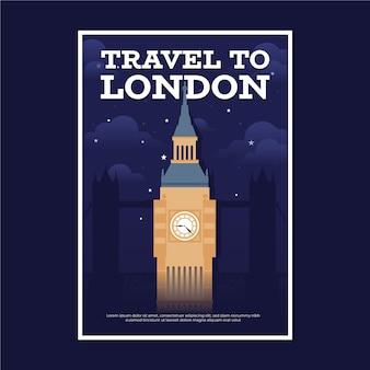 Affiche de voyage avec londres