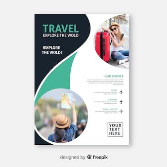 Affiche de voyage avec le monde