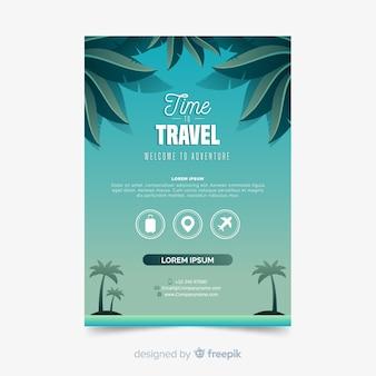 Affiche de voyage des palmiers